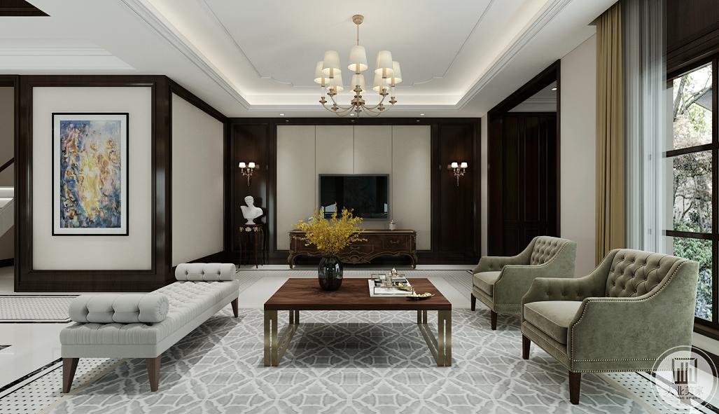 餐厅和客厅相连,但各自拥有独立的空间,为了不让空间布置的差距大,餐桌和餐椅是和沙发同款的千鸟格印花,都是实木的,能用好几年。