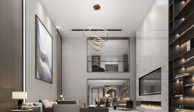 无锡香梅香墅500现代简约风格装修效果图