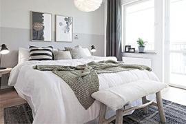 「色彩搭配」卧室窗帘色彩搭配的闭坑原则