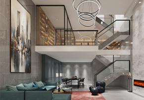 银城东樾府现代风格案例效果图
