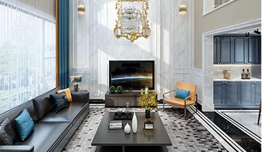 西塘独栋别墅现代混搭风格案例效果图
