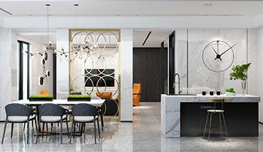 无锡吴月雅境640平别墅现代简约风格装修效果图