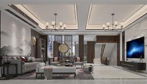华夏世纪锦园新中式风格案例效果图