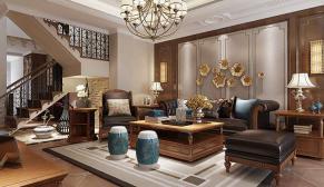 无锡保利香槟国际200平新古典风格装修效果图