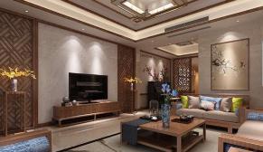 无锡龙湖天宸原著500平别墅新中式风格装修效果图