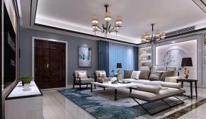 无锡金丰观湖铂庭200平复式新中式风格装修效果图