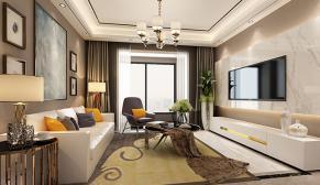 无锡长泰国际200平现代简约风格装修效果图