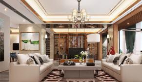 无锡阿卡迪亚350平别墅现代简约风格装修效果图