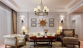 无锡玲珑湾150平美式风格装修效果图