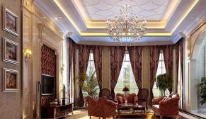无锡玲珑湾600平别墅欧式古典风格装修效果图