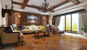 无锡亚美利加300平别墅美式风格装修效果图