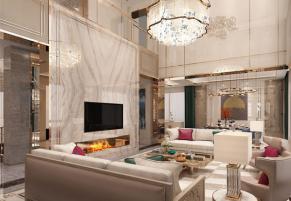 无锡印象剑桥600平别墅现代简约风格装修效果图