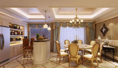 无锡长泰国际190平欧式古典风格装修效果图