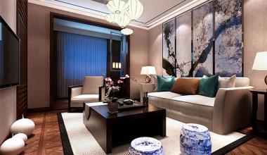 无锡春江花园350平新中式风格装修效果图