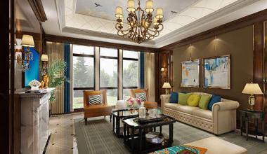 无锡蠡湖院子460平别墅英式风格装修效果图