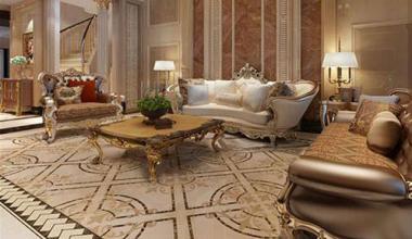无锡誉珑湖滨500平别墅新古典风格装修效果图