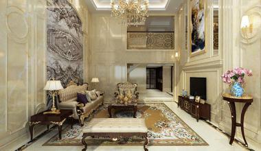 无锡阿维侬庄园400平复式欧式古典风格装修效果图