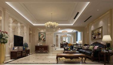 无锡山合院400平美式风格装修效果图