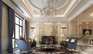 无锡阿卡迪亚300平别墅法式风格装修效果图