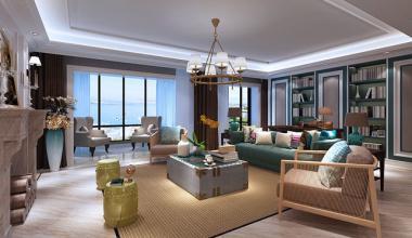 西水东140平新古典风格装案例修效果图