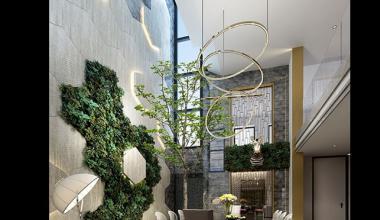 无锡弘阳三万顷300平别墅现代简约风格装修效果图