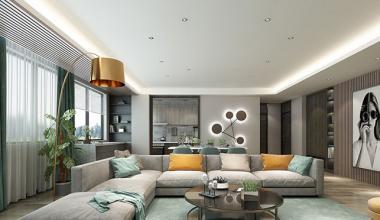 无锡阿卡迪亚400平别墅现代简约风格装修效果图