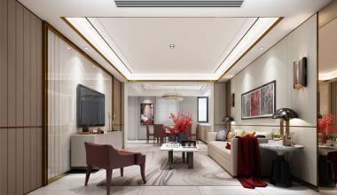 无锡瑷颐湾300平别墅轻奢风格装修效果图