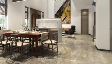 无锡阿卡迪亚300平复式现代简约风格装修效果图
